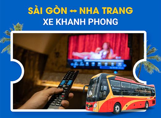 Đặt vé xe đi Nha Trang với các nhà xe Khanh Phong 3 chuẩn của VeXeRe