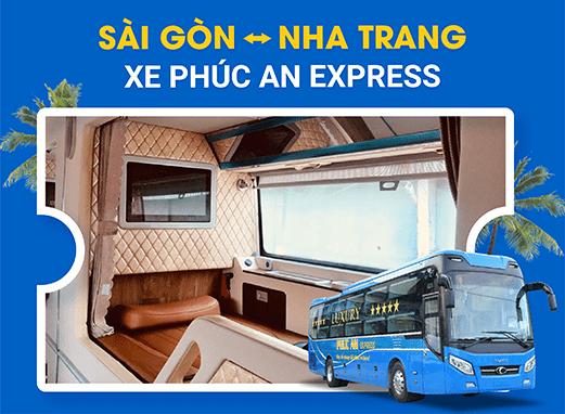 Đặt vé xe đi Nha Trang với các nhà xe Phúc An Express 3 chuẩn của VeXeRe